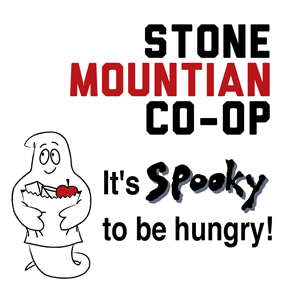 "Stone Mountain Co-op Says ""It's Spooky to be Hungry!"""