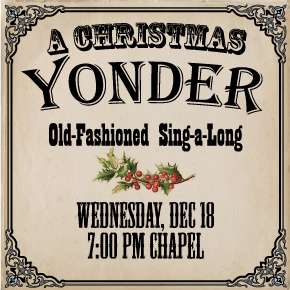 A Christmas Yonder Sing-along – Presented by the Sanctuary Choir