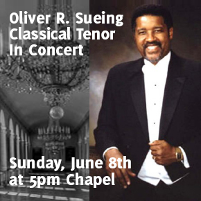 Oliver Sueing, Classical Tenor, in Concert June 8th 5pm