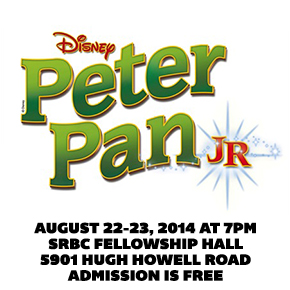 Peter Pan – Aug 22-23 7pm – Presented by Smoke Rise Academy of Arts