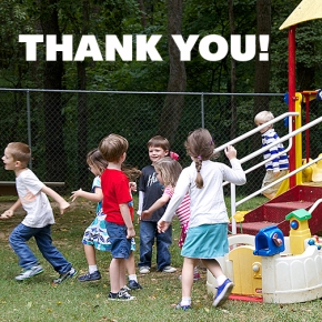 Playground Improvement Thanks from Weekday School