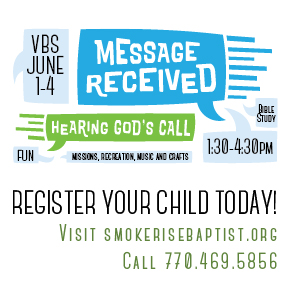 Register your child in the office or online for VBS today!