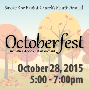 Octoberfest October 28th from 5-7pm