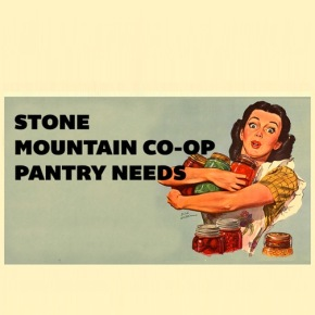 Stone Mountain Co-op Pantry Needs for October