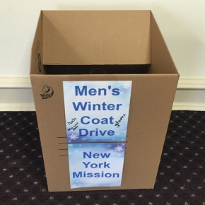 Men's Coat Drive for New York Missions
