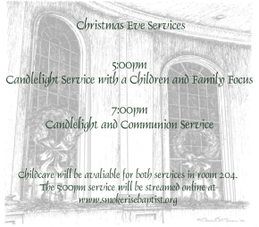 Family Christmas Eve Service Streaming Online at5pm