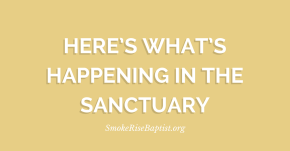 Here's What's Happening in the Sanctuary